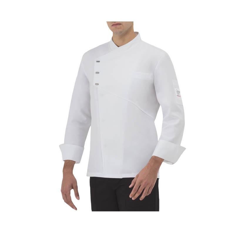 Giacca Cuoco Bianca Bottoni A Pressione EMANUEL