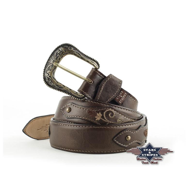 Cintura In Pelle Marrone SeSWG206